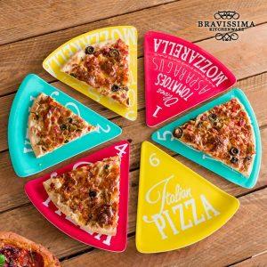 kuva Bravissima Kitchen Colors Pizza Lautaset (6 kpl)