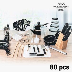 kuva Bravissima Kitchen Keittiövälinesetti (80 osaa)