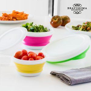 kuva Bravissima Kitchen Kokoontaitettavat Elintarvikerasiat (3 kpl)