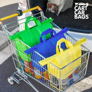 kuva Cart Car Auton Tavaratilan Ostoskassit (4 kpl pakkaus)