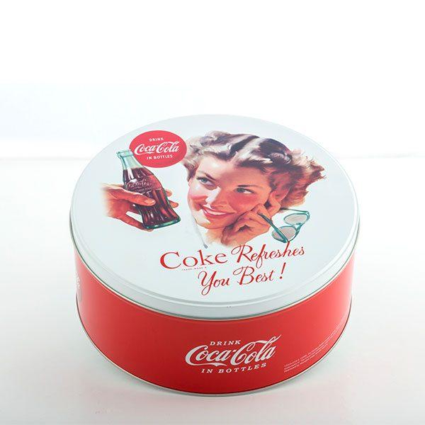 Coca-Cola Vintage Pyöreä Metallirasia kuva
