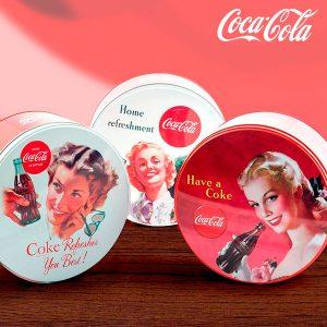 kuva Coca-Cola Vintage Pyöreä Metallirasia