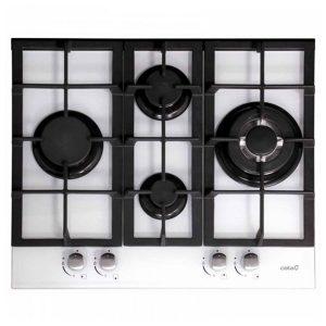 kuva Kaasukäyttöinen keittolevy Cata 201168 9200W 60 cm Musta Valkoinen Kristalli