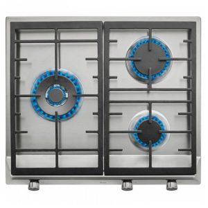 kuva Kaasukäyttöinen keittolevy Teka 219188 8550W 60 cm Ruostumaton teräs Musta