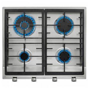 kuva Kaasukäyttöinen keittolevy Teka EX60.1 4G AIAL 60 cm Ruostumaton teräs Musta (4 liedet)
