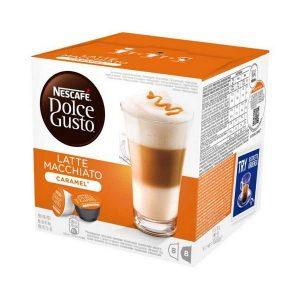 kuva Kahvikapselit laatikossa Nescafé Dolce Gusto 24191 Latte Macchiato (16 uds) Toffee