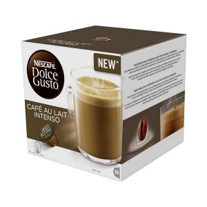 kuva Kahvikapselit laatikossa Nescafé Dolce Gusto 45831 Café Au Lait Intenso (16 uds)