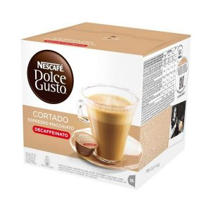 kuva Kahvikapselit laatikossa Nescafé Dolce Gusto 94314 Espresso Macchiato Decaffeinato (16 uds)