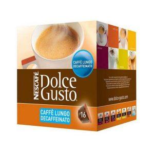 kuva Kahvikapselit laatikossa Nescafé Dolce Gusto 94331 Caffè Lungo Decaffeinato (16 uds)