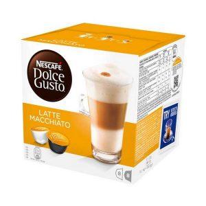 kuva Kahvikapselit laatikossa Nescafé Dolce Gusto 98386 Latte Macchiato (16 uds)