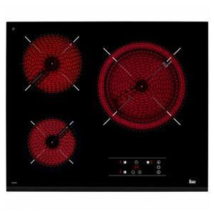 kuva Lasikeraaminen keittolevy Teka TZ6318 60 cm Musta (3 paisto- ja keittoalue)