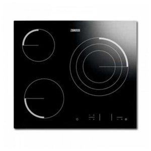 kuva Lasikeraaminen keittolevy Zanussi Z6123 IOK Easy Touch 60 cm Musta (3 paisto- ja keittoalue)