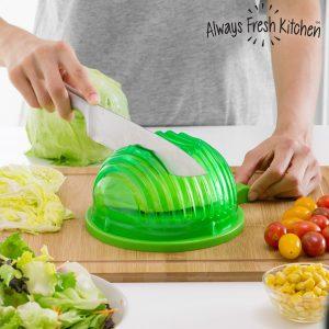 kuva Quick Salad Maker Kulho Salaatin Huuhtomiseen ja Leikkaamiseen
