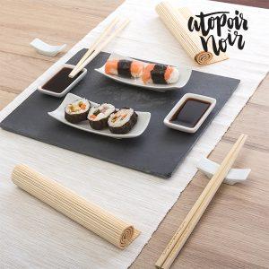 kuva Sushi Setti Liuskekivi Tarjottimella (11 osaa)