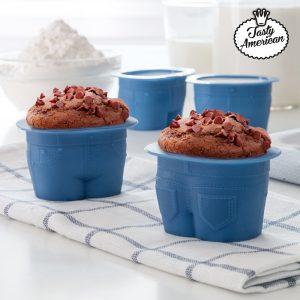 kuva Tasty American Silikonivuoat Madeleine-leivoksille (4 kpl pakkaus)