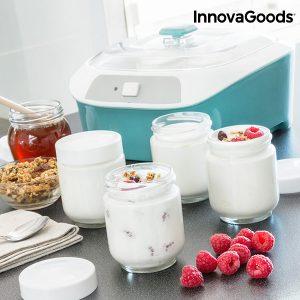 kuva Vintage Jogurttikone 6 Purkilla 1 L 20W Valkoinen-turkoosi