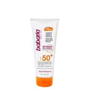 kuva Maksaläiskiä ehkäisevä aurinkoemulsio Cara & Escote Babaria SPF 50+ (75 ml)