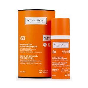 kuva Maksaläiskiä ehkäisevä aurinkoemulsio Protect-adapt System Bella Aurora SPF 50+ (50 ml)